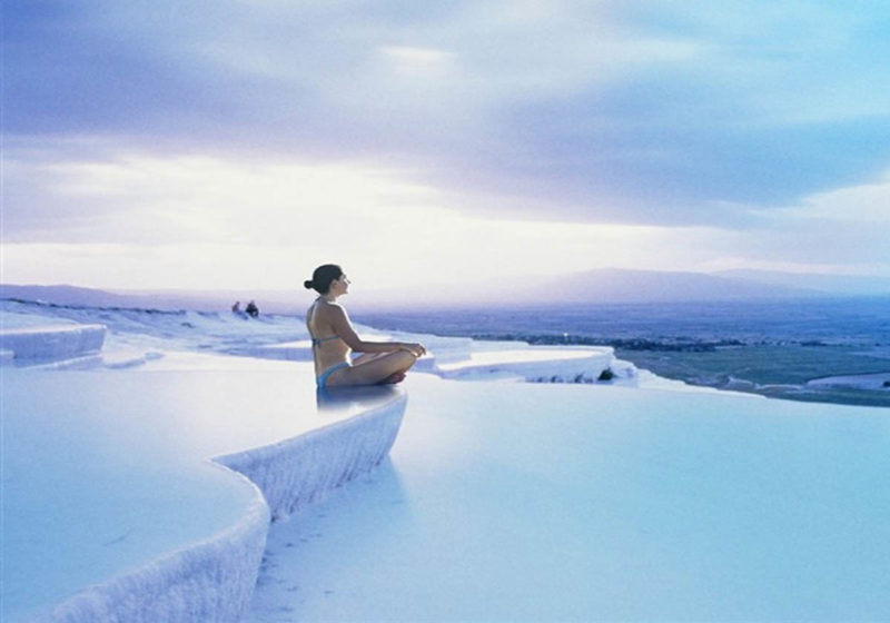 Excursion to Pamukkale from Side Antalya Turkey by professional guide.